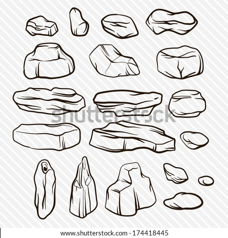 Stone Set - stock vector