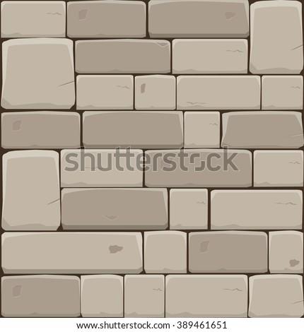 Stone wall - stock vector