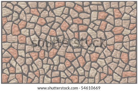 Stone wall in vector format.