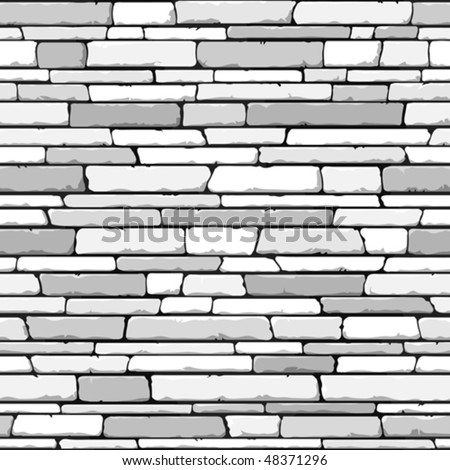 Stone wall. Seamless. Vector illustration. - stock vector