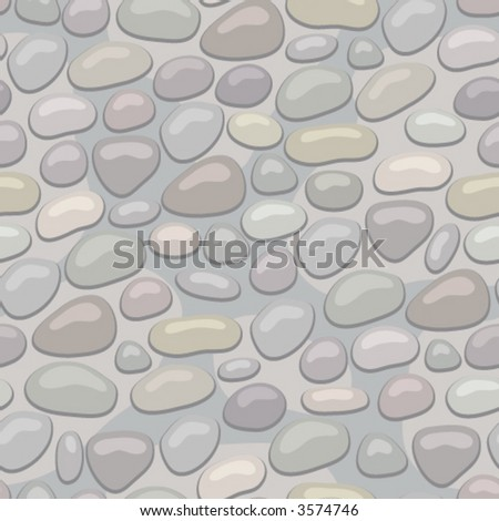 Stoned wall. Seamless vector wallpaper - stock vector