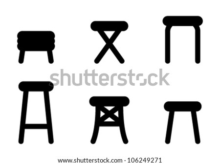 Stool icons - stock vector