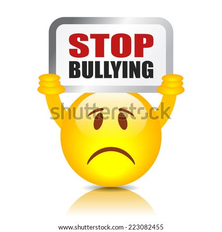 Stop bullying sign - stock vector