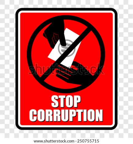 Stop corruption - stock vector