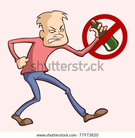 Stop drinking alcohol - stock vector
