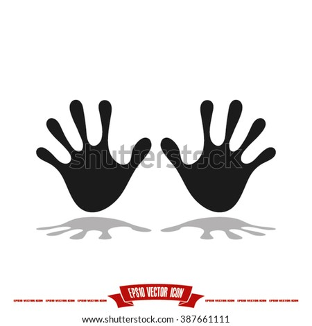 Stop hands Icon Vector.