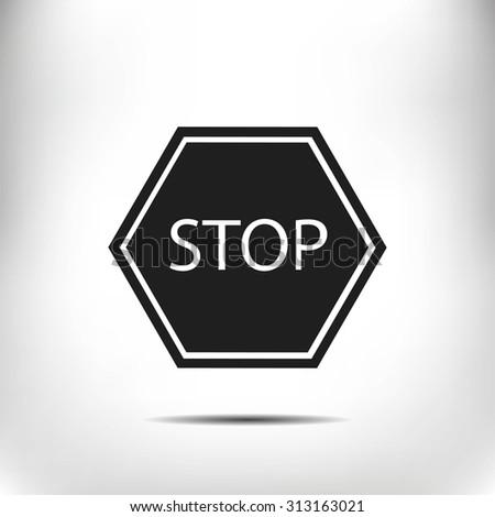 stop icon - stock vector