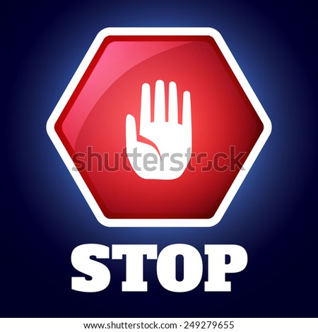 Stop icon. Vector illustration - stock vector