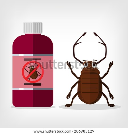 Stop insects. Vector flat illustration - stock vector