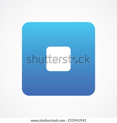 Stop Media player control rounded button for web, site, mobile, application. Vector illustration. Simple flat metro style - stock vector