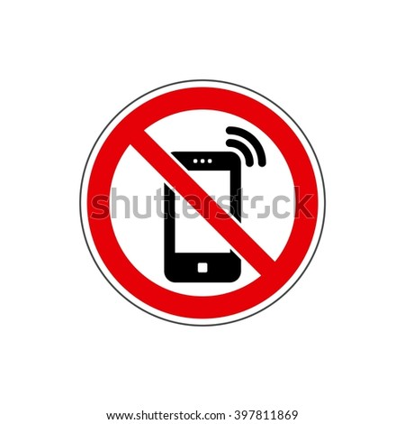 STOP! No phone / cell phone sign. Vector. The icon with a red sign on a white background. For any use. Warns. - stock vector