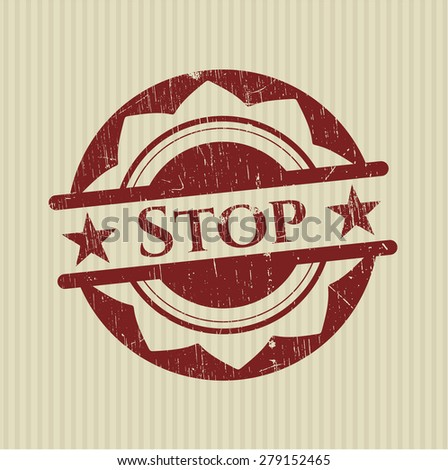 Stop red rubber stamp