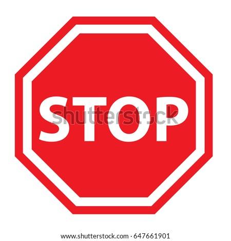 stop sign stock vector 647661901 shutterstock rh shutterstock com free vector stop sign hand free vector stop sign hand