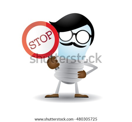 stop sign by lampu character