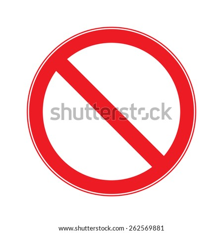 Stop Sign . No entry  Sign Vector