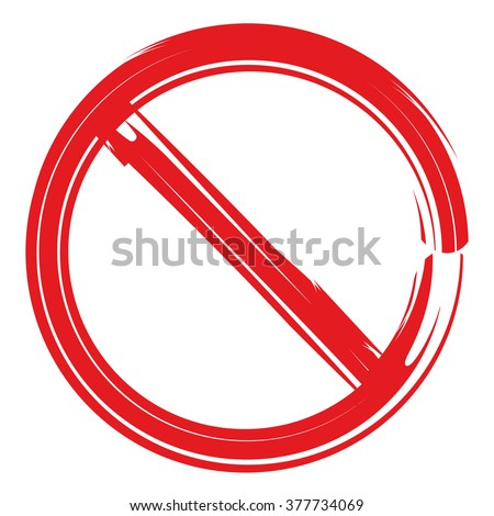stop sign, no sign - stock vector