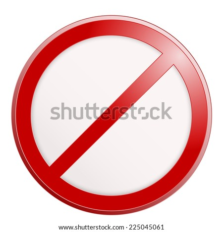Stop sign. No sign template. Vector illustration. - stock vector