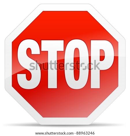 stop sign vector stock vector 88963246 - shutterstock
