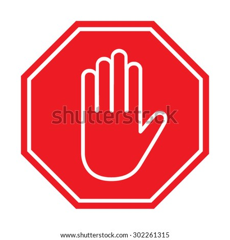 Stop sign , Vector illustration
