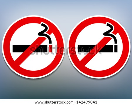 stop smoking - quit Smoking - no smoking sign printable vector stickers - stock vector