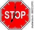 Stop time - stock photo