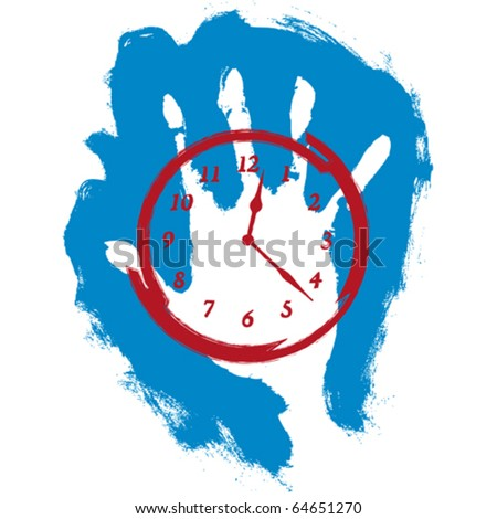 stop time - stock vector