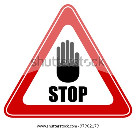 Stop vector sign, eps10 illustration - stock vector