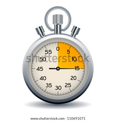 stop watch isolated on a white background, eps10 - stock vector