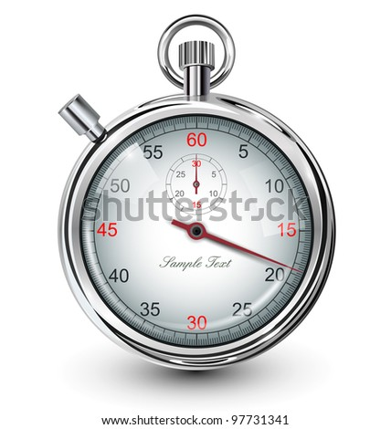 Stop watch, vector illustration.