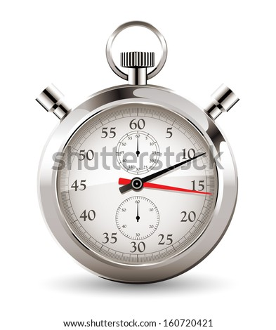 Stopwatch - clock and time concept - stock vector