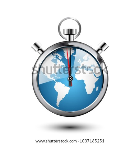 Stopwatch concept world map clock face stock vector 1037165251 stopwatch concept world map as clock face gumiabroncs