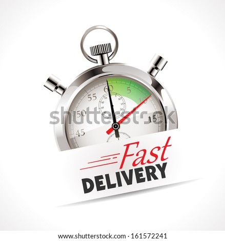 Stopwatch - Fast delivery - stock vector