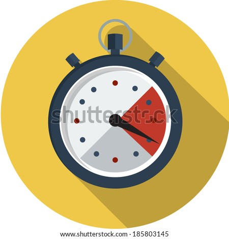stopwatch flat icon  - stock vector