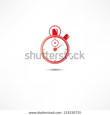 Stopwatch Icon - stock vector