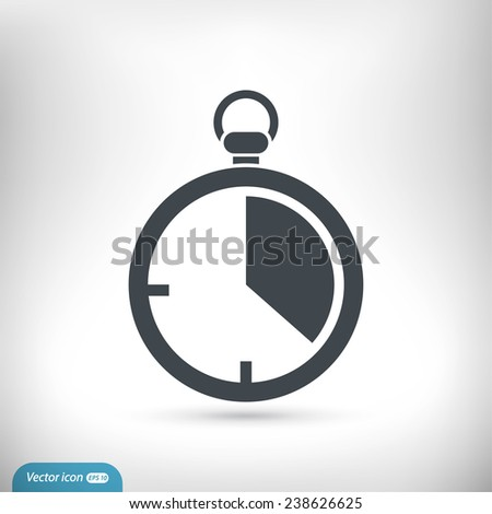 stopwatch  icon - stock vector