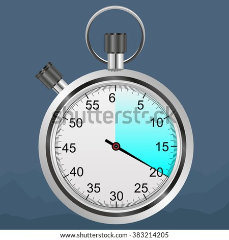 Stopwatch on the white background - stock vector