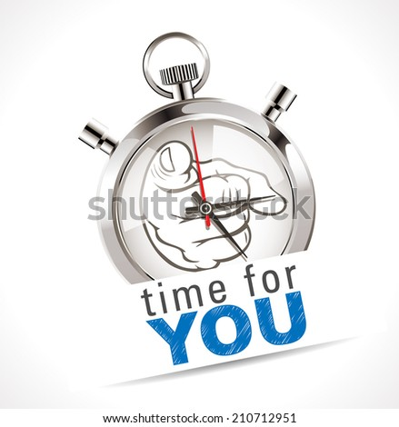 Stopwatch - time for YOU - stock vector