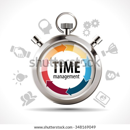 Stopwatch - time management concept - stock vector