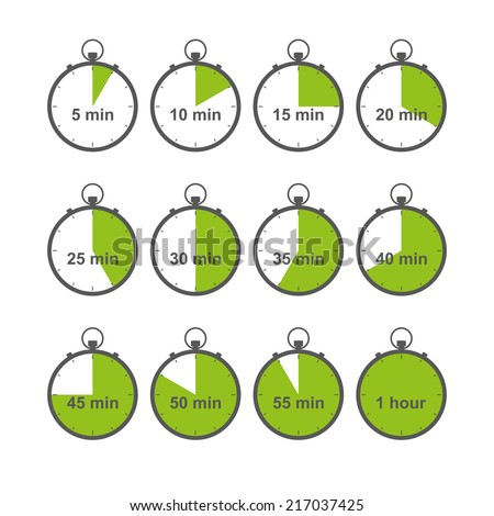 stopwatch, timer, chronometer icons set isolated on white background. vector illustration - stock vector