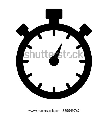 Stopwatch timer flat icon for apps and websites - stock vector
