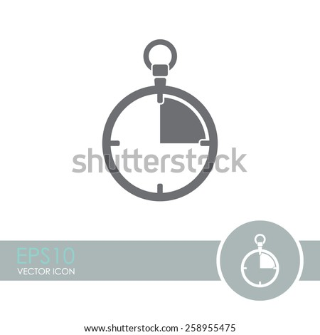 Stopwatch vector icon. - stock vector