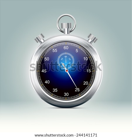 Stopwatch - vector illustration - stock vector