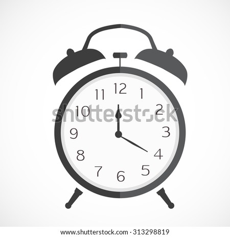stopwatch web black icon isolated on white background. vector illustration