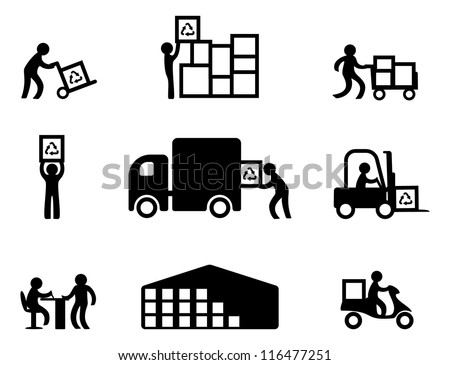 Storage and sale - stock vector