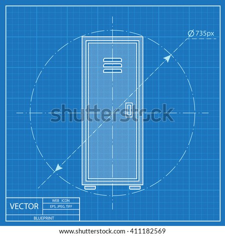 Blueprint icon trash can vectores en stock 411203770 shutterstock blueprint style malvernweather Image collections