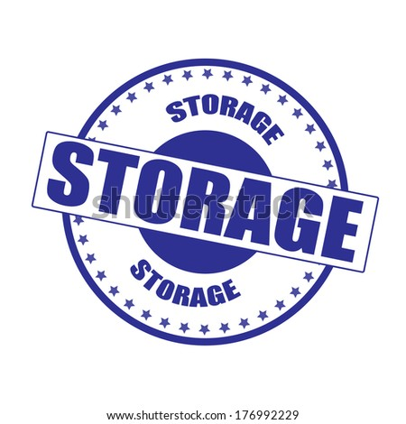 storage stamp whit on vector illustration