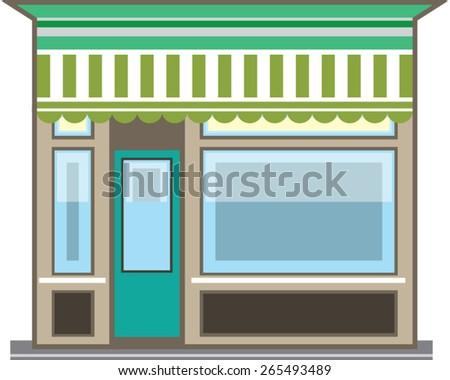 Store Front Vector - stock vector