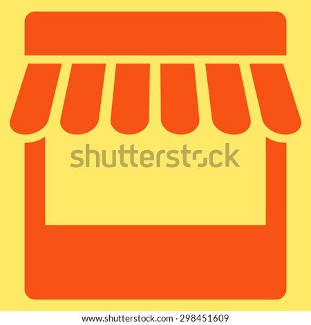 wooden table striped awning market stall stock vector 507053908 shutterstock. Black Bedroom Furniture Sets. Home Design Ideas