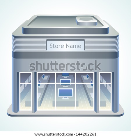 Store icon. Shop Front. Vector illustration eps 10. - stock vector