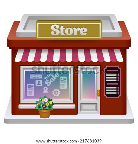 Store icon. Vector eps 10. - stock vector